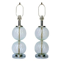 Molded Glass Table Lamps