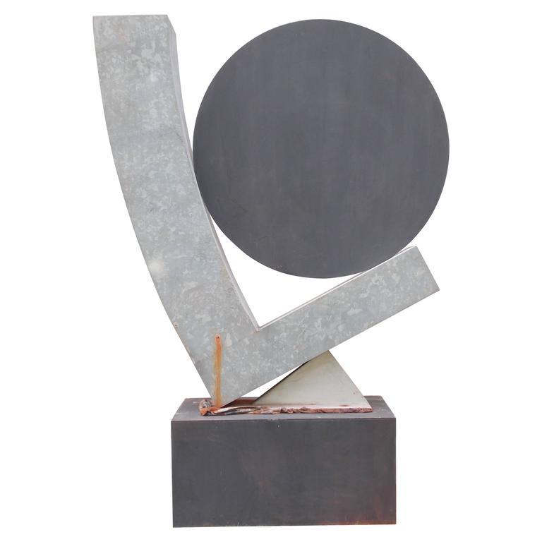Guy Dill Modern Art Floor Standing Sculpture, 1980's