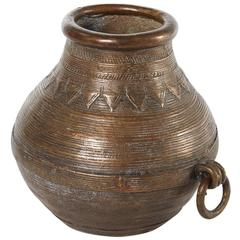 19th Century Bronze Vessel From Nepal