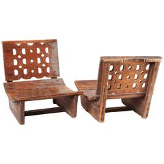 Pair of Late 19th Century Indonesian Children's Chairs