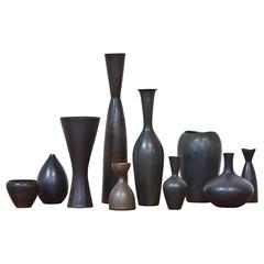Collection of Ten Vases by Stalhane & Nylund