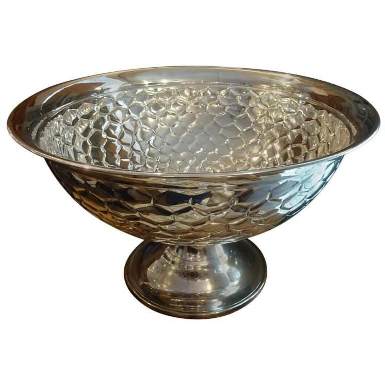 Early 20th Century French Silver Plated Champagne Cooler Bowl