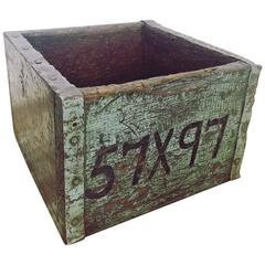 Vintage Industrial Ironmongers Wooden Storage Box