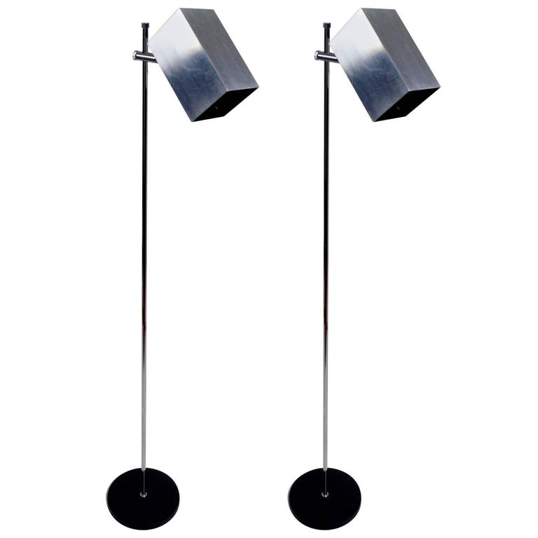Pair Of Sonneman For Kovacs Adjustable Floor Lamps