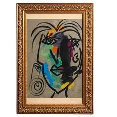 Peter Robert Keil, 'Andy Warhol', Oil on Board, Signed