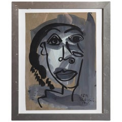 Peter Robert Keil, 'My Friend Pablo Picasso', Oil on Board, Signed and Dated