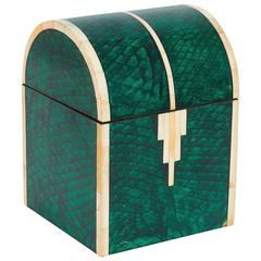Casa Bique Faux Shagreen Domed Box with Bone Accent