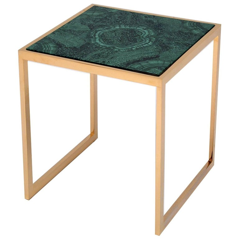 Malachite Side Table For Sale