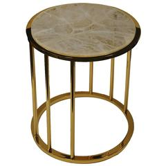 Short Hyaline Round Side Table