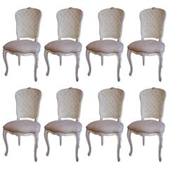 Set of Eight 19th Century Louis XVI Dining Chairs