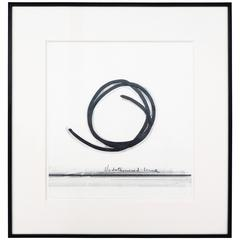 "Bernar Venet, ""Undetermined Line,"" Mixed-Media Collage, 1984"