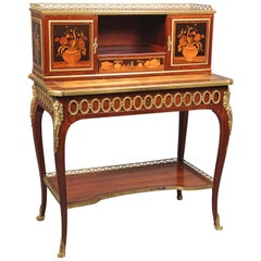 Fine Mid-19th Century Gilt Bronze Mounted Marquetry Desk by Guillaume Lexcellent
