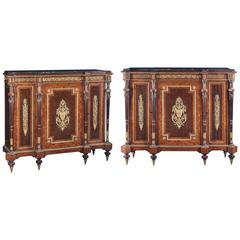 Pair of Mid-19th Century French Inlay Cabinet, Napoleon III