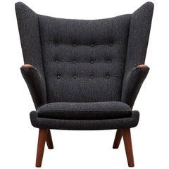 Hans Wegner Papa Bear Lounge Chair 'D', New Upholstery