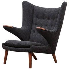 "Hans Wegner Papa Bear Chair 'C' ""New Upholstery"""
