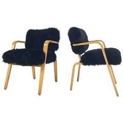 Pair of Thonet Armchairs in Sheepskin