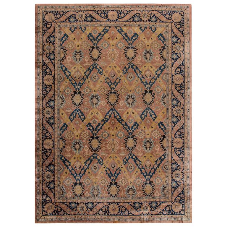 Antique Agra Indian Rug For Sale At 1stdibs