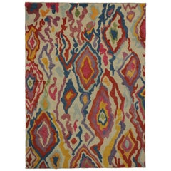 New Colorful Contemporary Tulu Shag Area Rug with Postmodern Memphis Style
