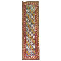 Bright Antique Turkish Melas Runner