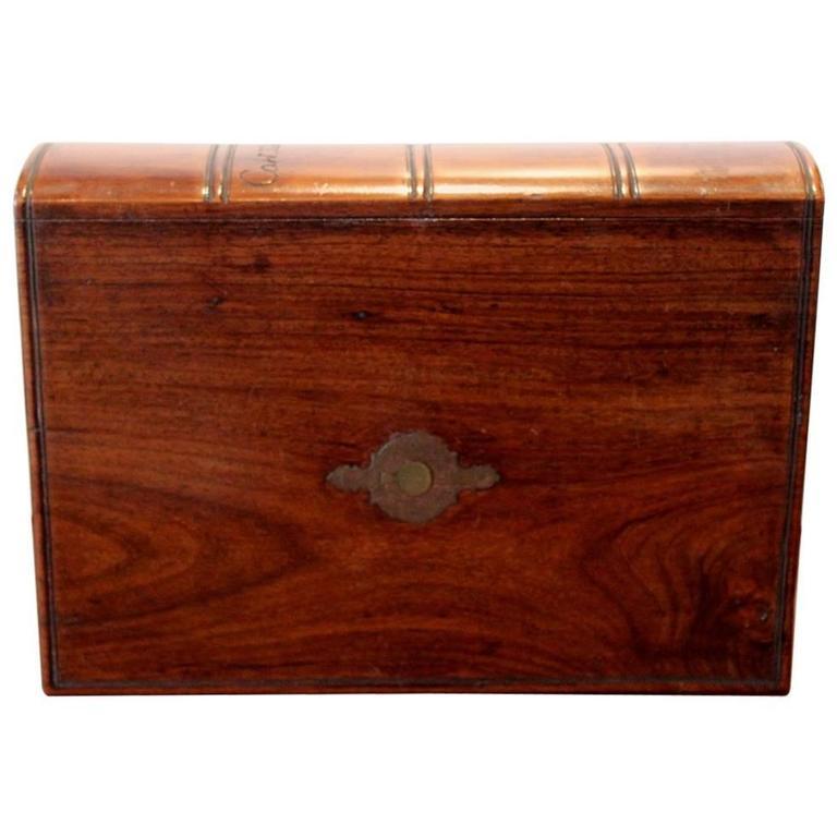 "Antique ""Captain Hardcastle"" Locking Note Book Box, 19th Century For Sale"