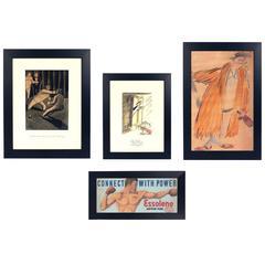 Group of Original American Illustration Art Paintings