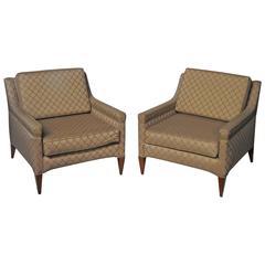 Pair of Mid-Century Modern Club Chairs by Dunbar
