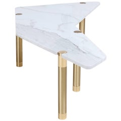 Nova Boomerang Coffee Table with Marble Top by AVRAM RUSU STUDIO