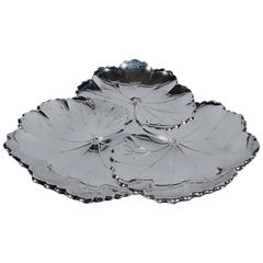 Reed & Barton Sterling Silver Lily Pad Bowl
