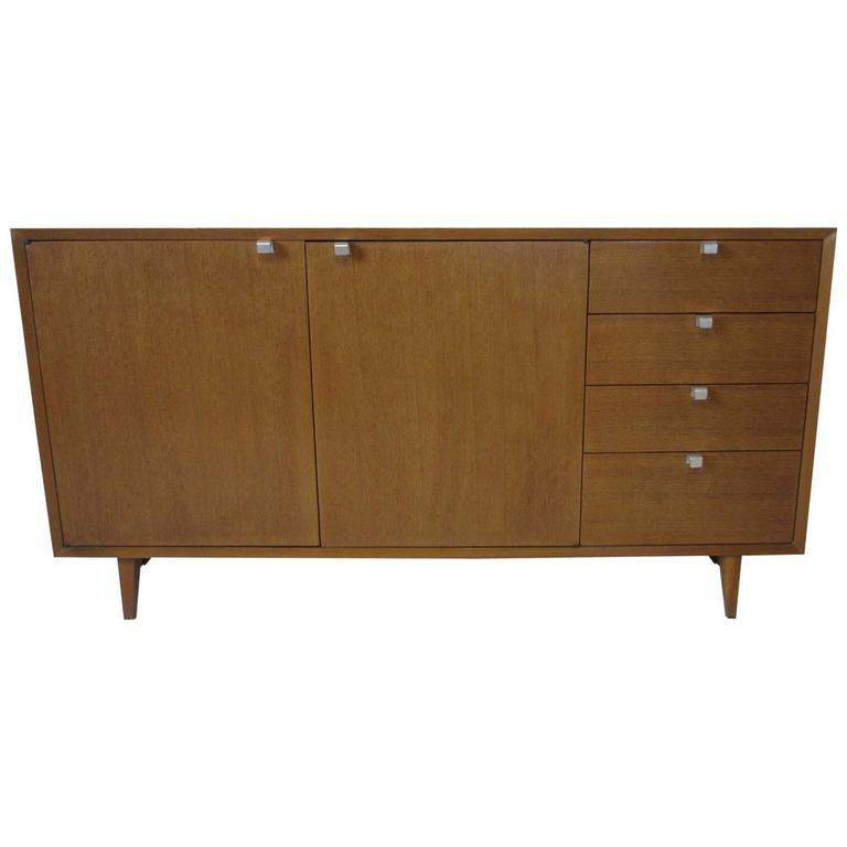 George Nelson Walnut Credenza or Sideboard for Herman Miller