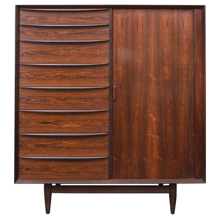 Danish Rosewood Dresser by Falster 1