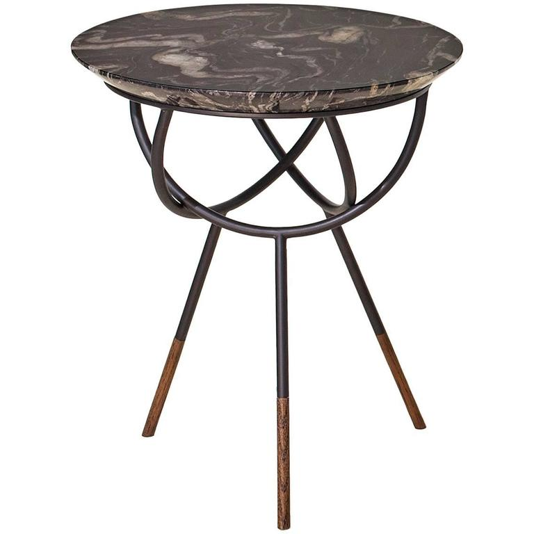 Atlas Bronze Side or End Table by AVRAM RUSU STUDIO For Sale