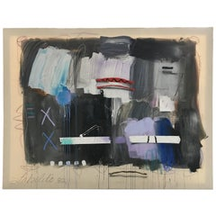 Large Bold Abstract Painting by Joseph Stabilito