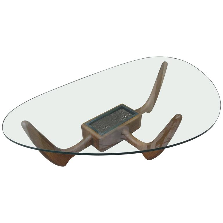 Adrian Pearsall Biomorphic Coffee Table in the Shape of Noguchi 1
