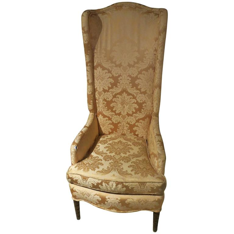1960s Missoni Wingback Chair At 1stdibs: Vintage Tall Wingback Upholstered Chair, 1960s For Sale At