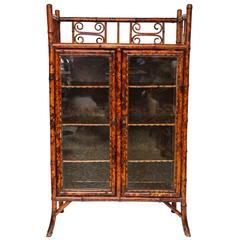 19th English Bamboo Cabinet