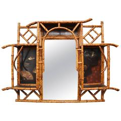 Superb 19th Century English Bamboo Mirror