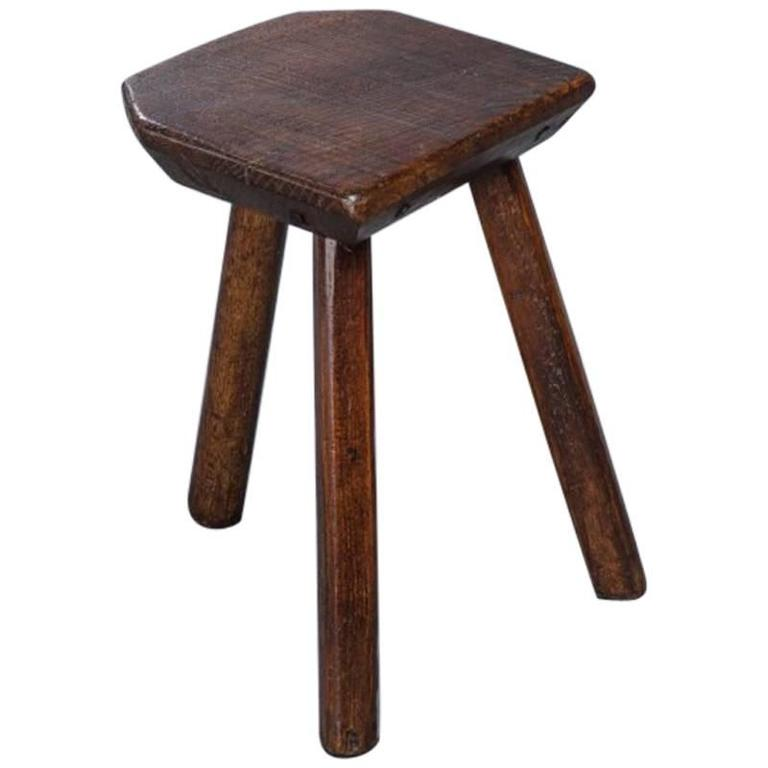 Ash Milking Stool At 1stdibs