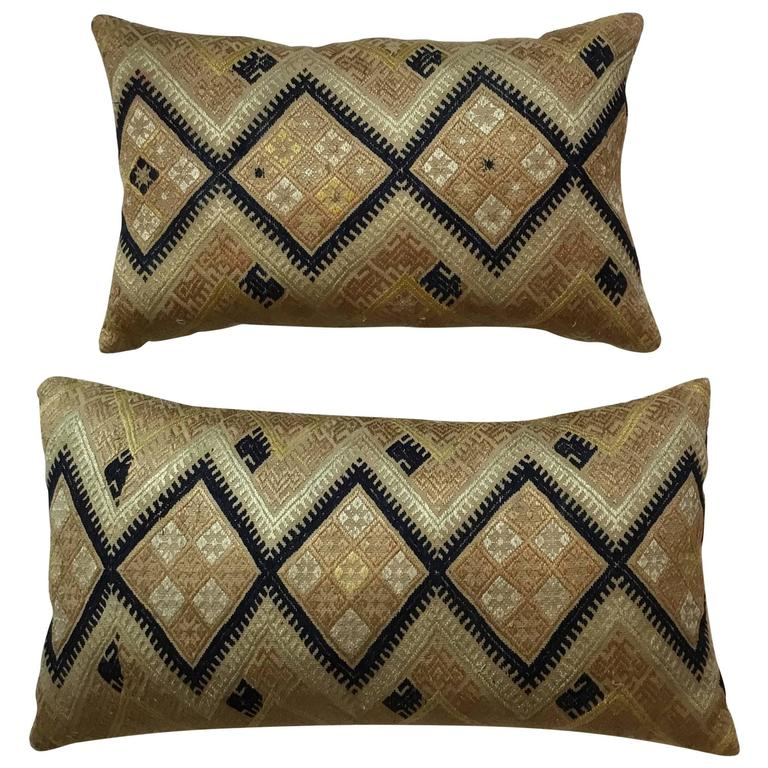 Pair of Vintage Hand Embroidery Suzani Pillows
