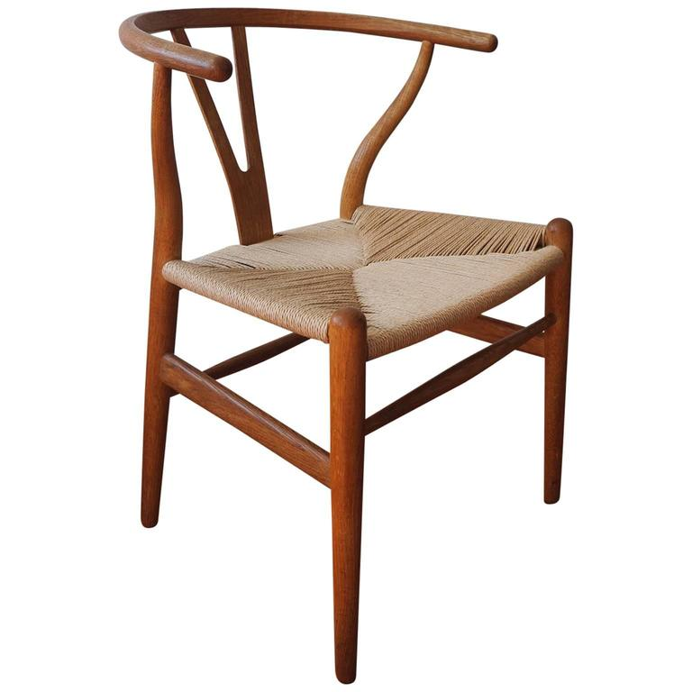early hans wegner for carl hansen wishbone y chair at 1stdibs. Black Bedroom Furniture Sets. Home Design Ideas