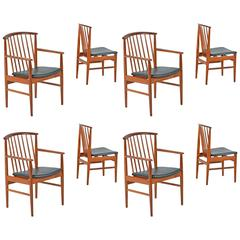 Mid-Century Modern Sylve Stenquist for DUX Teak Dining Chairs