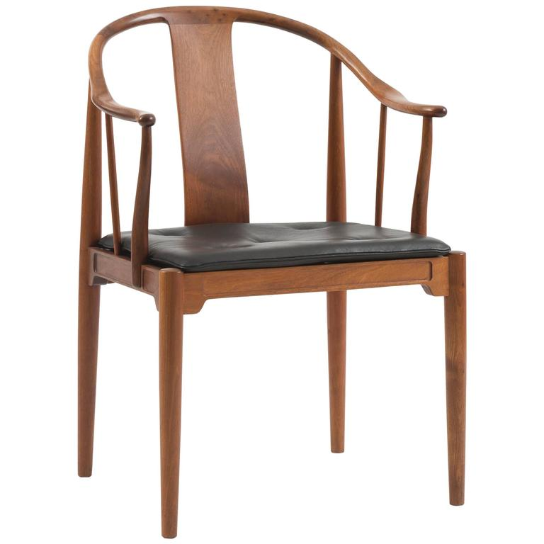 A Pair Of Chinese Chairs In Cuban Mahogany By Hans J