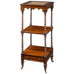 Mid-19th Century Rosewood Three Tier Whatnot