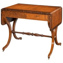 Early 19th Century Burr Amboyna Sofa Table