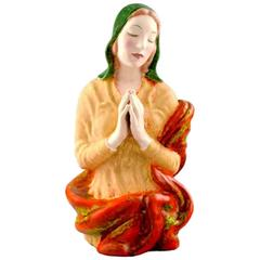 Keramos, Vienna, Praying Woman Porcelain Figure, 1940s