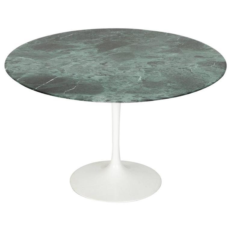 Saarinen Table Knoll International with Verdi Alpi Marble Tabletop, 1970s