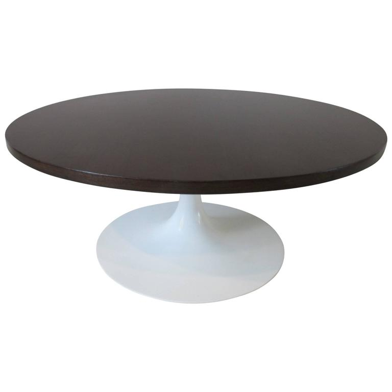 Knoll Eero Saarinen Styled Ebony Tulip Coffee Table At 1stdibs