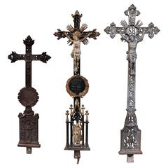 French Belle Epoque Castiron Large Crosses