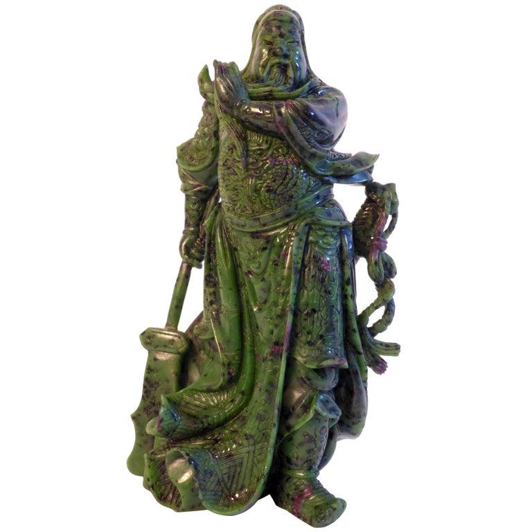 Beautiful Zoisite Sculpture For Sale
