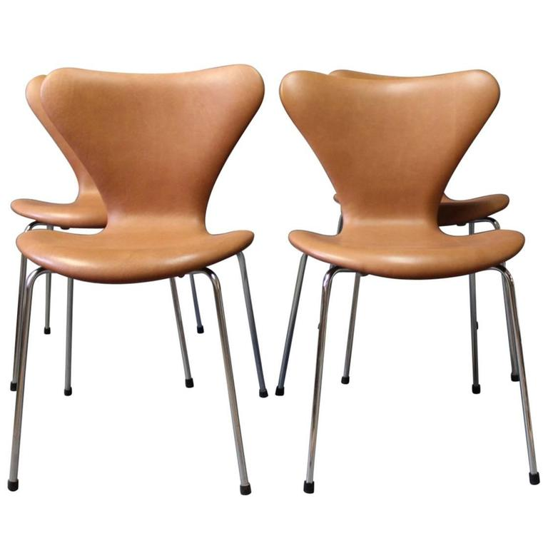 Set of Four Seven Chairs by Arne Jacobsen and Fritz Hansen, 1967