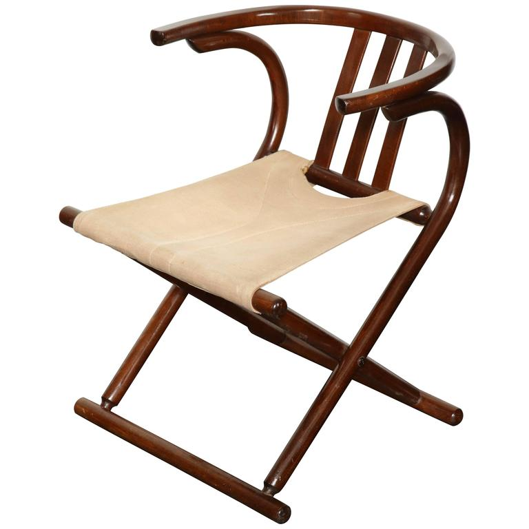 Mid Century Thonet Style Bentwood Folding Chair For